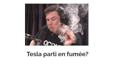 Tesla parti en fumée?