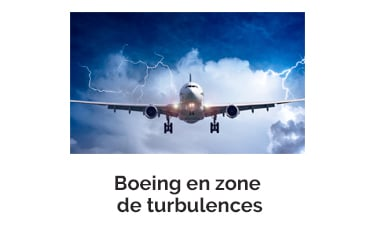 Boeing en zone de turbulences